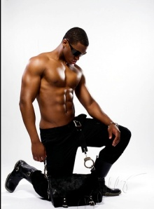 Black guy in boots