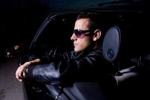 Hot guy in dark car