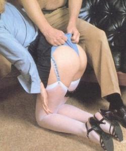 Pulling her panties