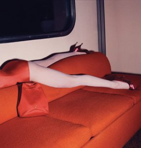 red on red couch