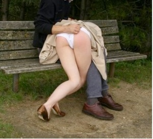 Spanking on a bench